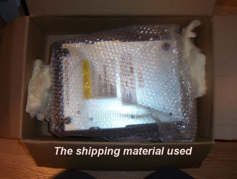 shipping material