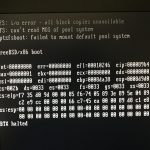 After replacing 3TB drive with 5TB drive, FreeBSD 10.3 system did not reboot