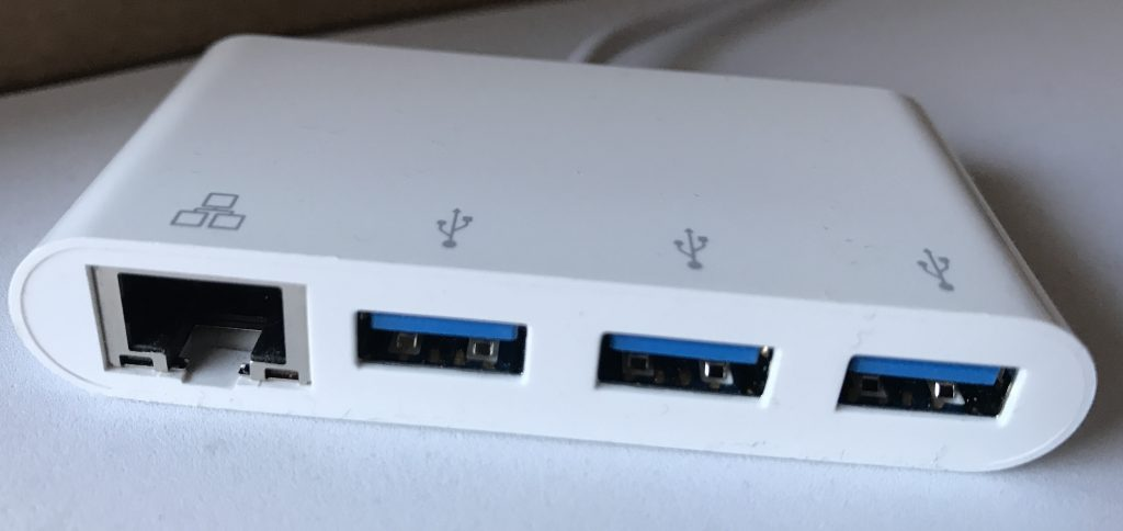 Select Series USB-C 3-Port USB 3.0 Hub and Gigabit Ethernet Adapter