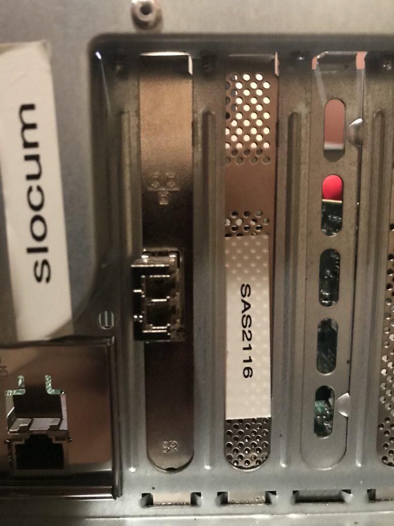 SAS 2116 installed