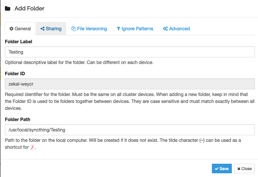 server add folder