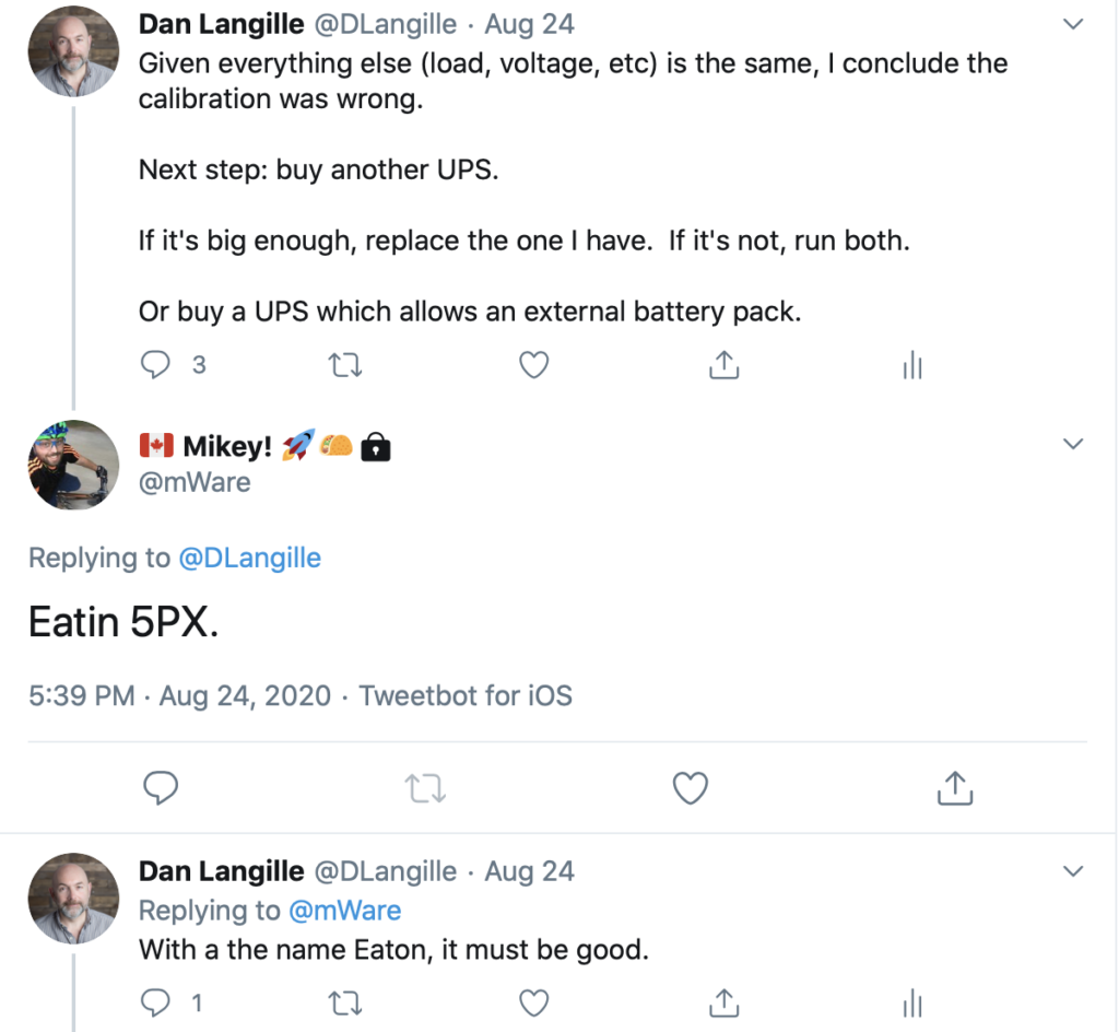 The Eaton Suggestion tweet - reproduced here with permission